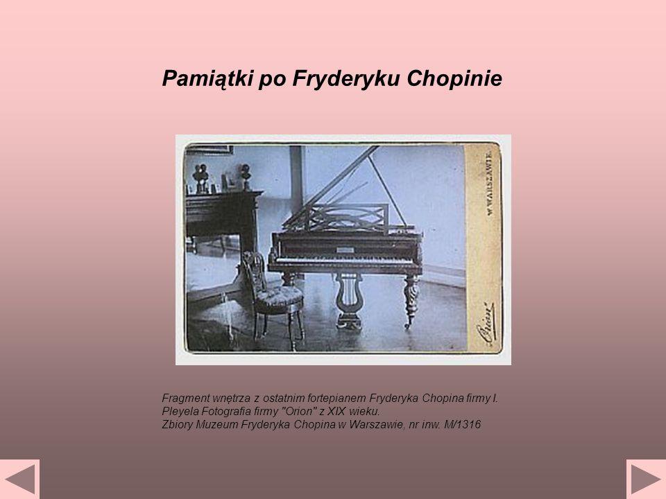Fragment wnętrza z ostatnim fortepianem Fryderyka Chopina firmy I. Pleyela Fotografia firmy