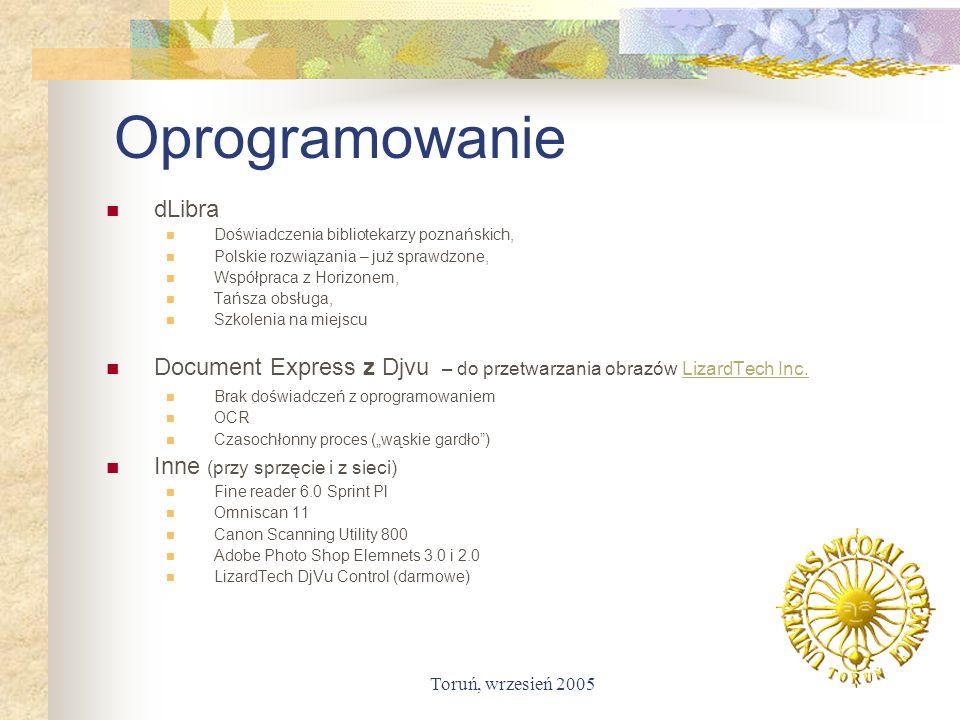 Toruń, wrzesień 2005 Oprogramowanie dLibra Doświadczenia bibliotekarzy poznańskich, Polskie rozwiązania – już sprawdzone, Współpraca z Horizonem, Tańs