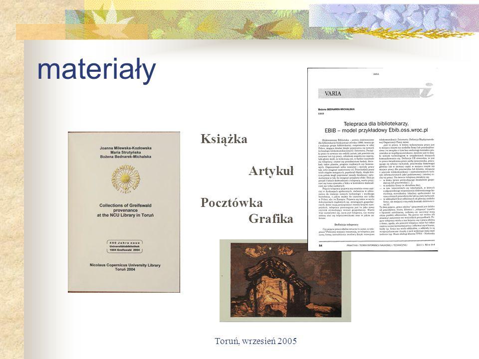 Toruń, wrzesień 2005 materiały Książka Artykuł Pocztówka Grafika