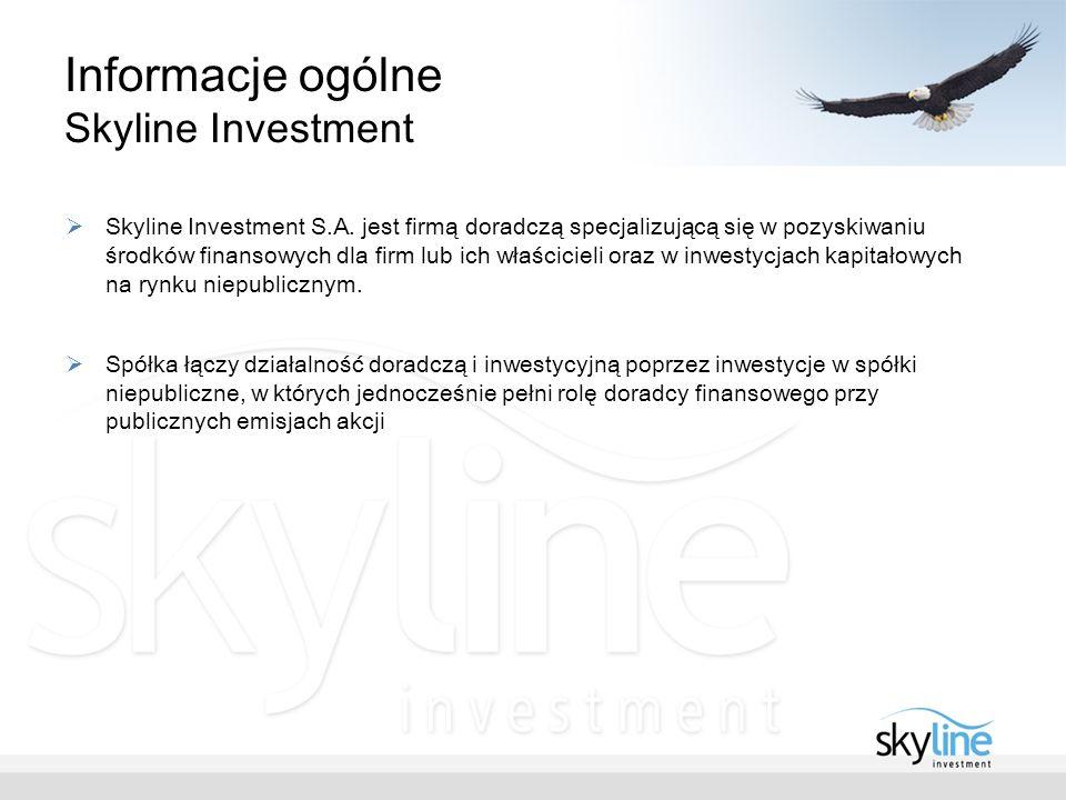 Informacje ogólne Skyline Investment Skyline Investment S.A.