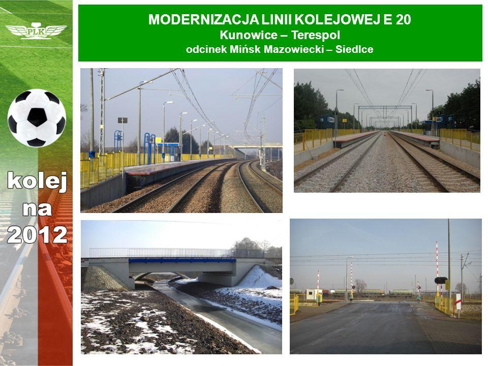 MODERNIZACJA LINII KOLEJOWEJ E 20 Kunowice – Terespol odcinek Mińsk Mazowiecki – Siedlce
