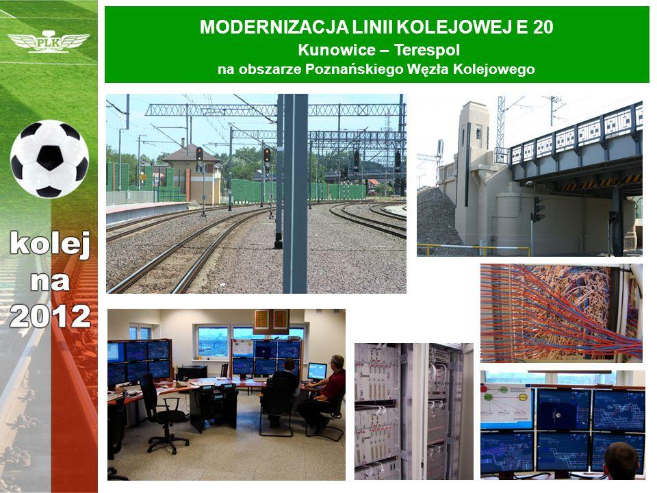 MODERNIZACJA LINII KOLEJOWEJ E 20 Kunowice – Terespol na obszarze Poznańskiego Węzła Kolejowego
