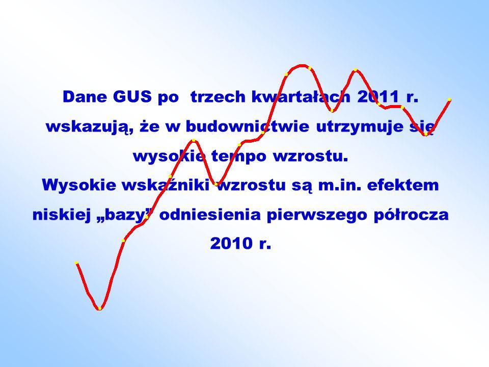 Dane GUS po trzech kwartałach 2011 r.