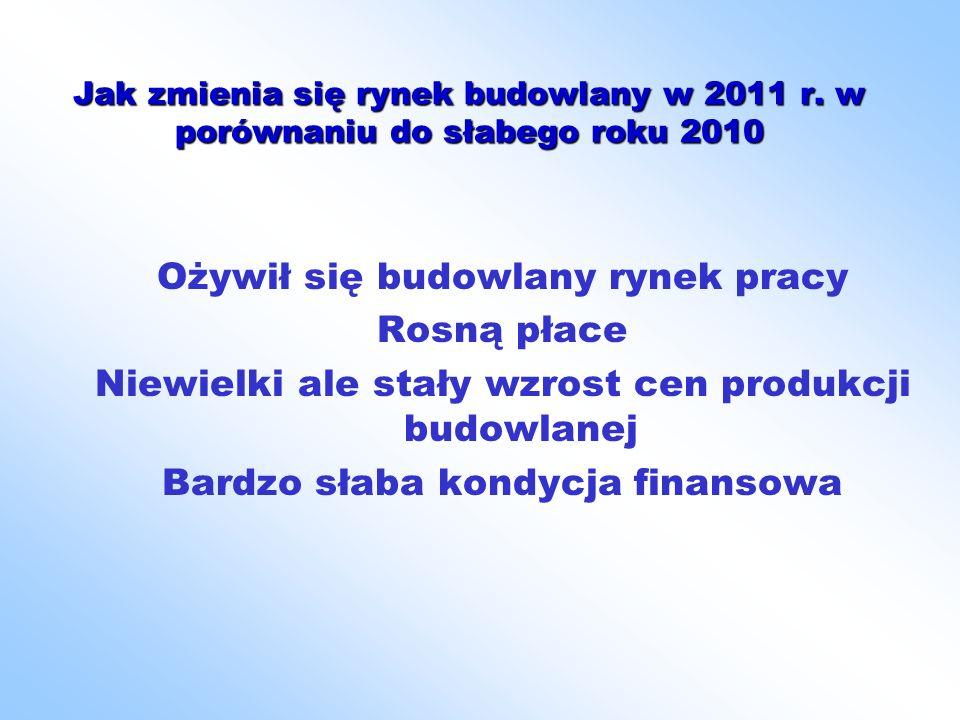 Jak zmienia się rynek budowlany w 2011 r.
