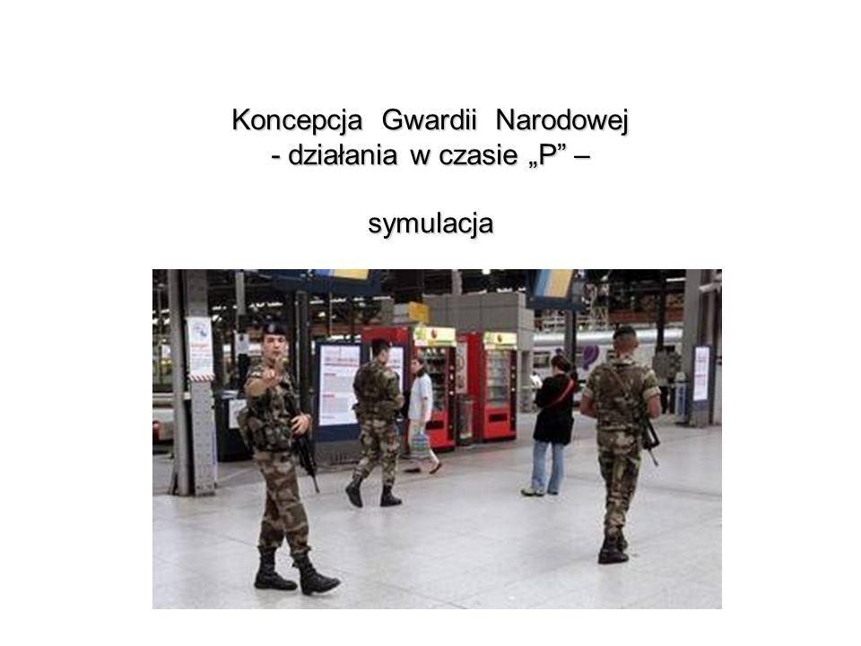 Gwardia Narodowa - działania w czasie P Wsparcie działań rozpoznawczych na rzecz służb porządkowych Brak właściwego rozpoznania stanowił przyczynę porażki sił policyjnych w Magdalence.