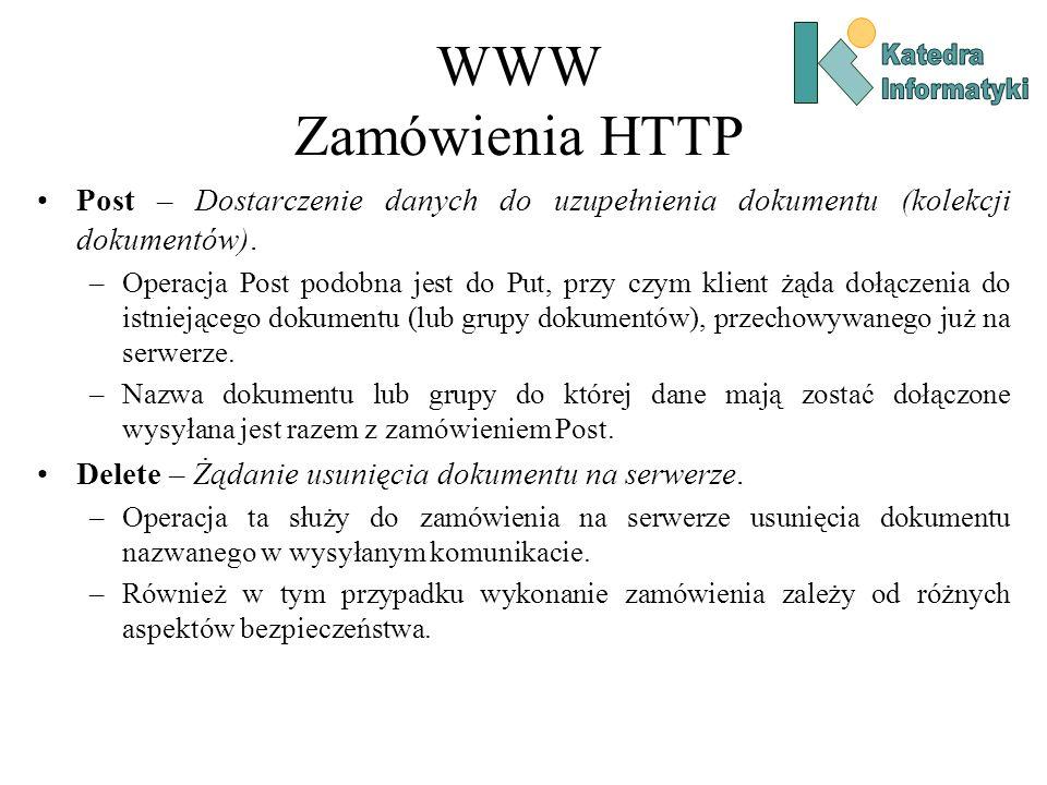 WWW Zamówienia HTTP Post – Dostarczenie danych do uzupełnienia dokumentu (kolekcji dokumentów).