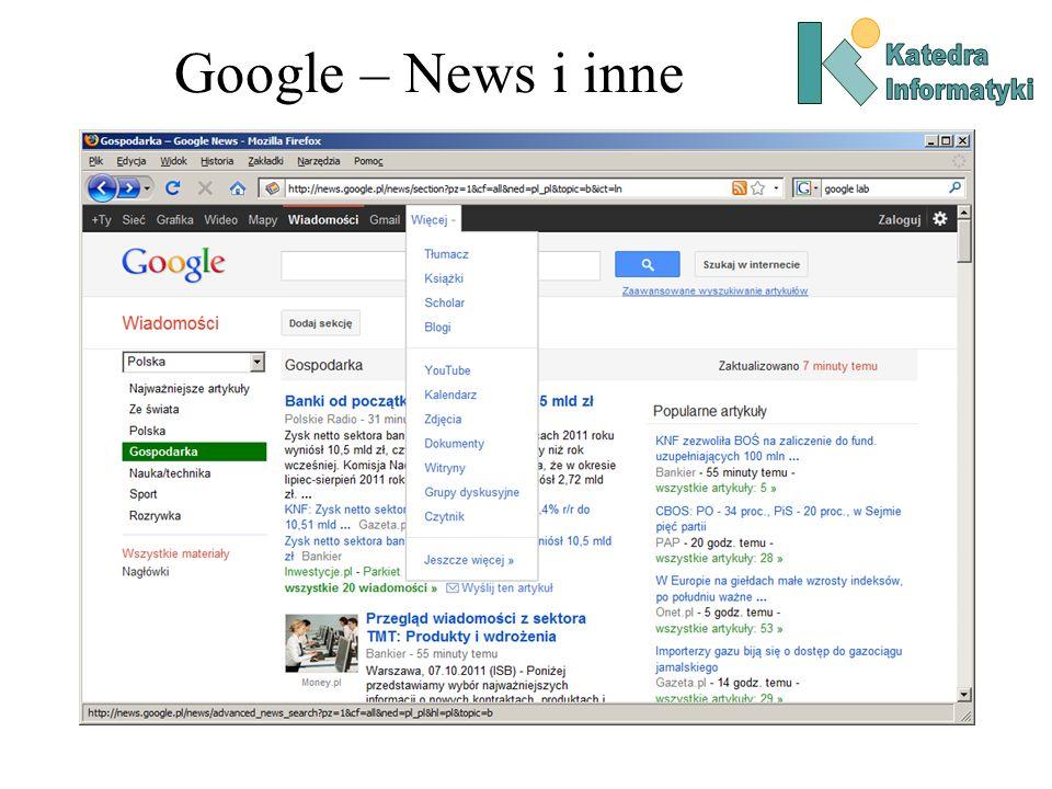 Google – News i inne