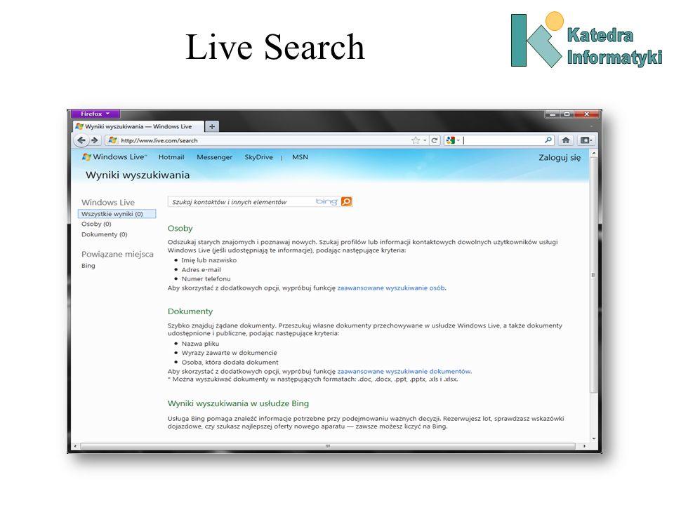 Pozycjonowanie stron i spam Pozycjonowanie stron w wyszukiwarkach (Search Engine Optimization): –Dostrajanie strony tak by dla wybranych słów kluczowych pojawiała się wysoko w rankingach wyszukiwania.