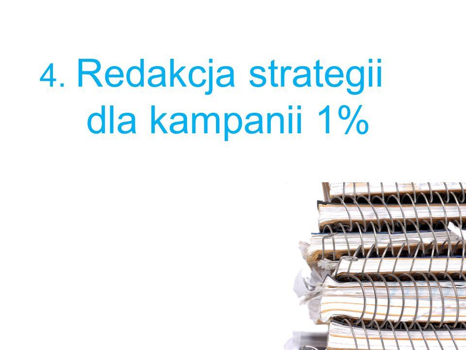4. Redakcja strategii dla kampanii 1%