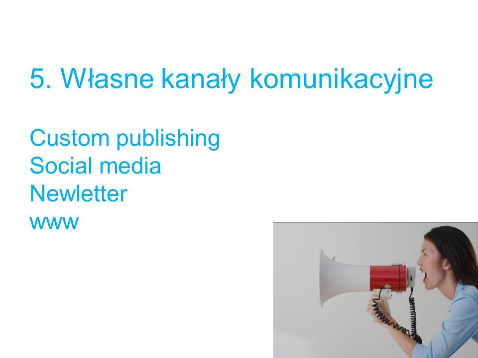 5. Własne kanały komunikacyjne Custom publishing Social media Newletter www