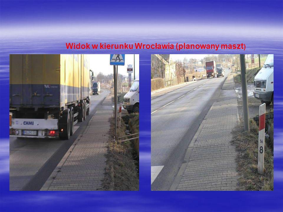 Widok w kierunku Wrocławia (planowany maszt )