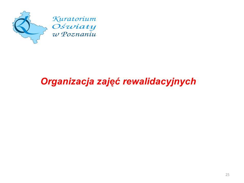 25 Organizacja zajęć rewalidacyjnych