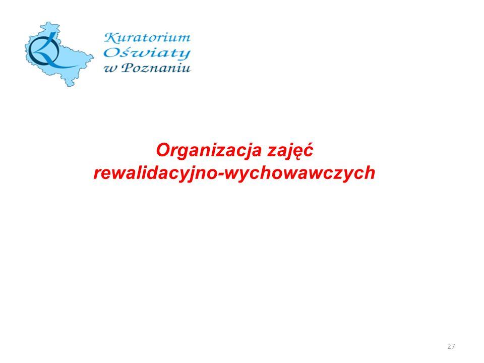 27 Organizacja zajęć rewalidacyjno-wychowawczych