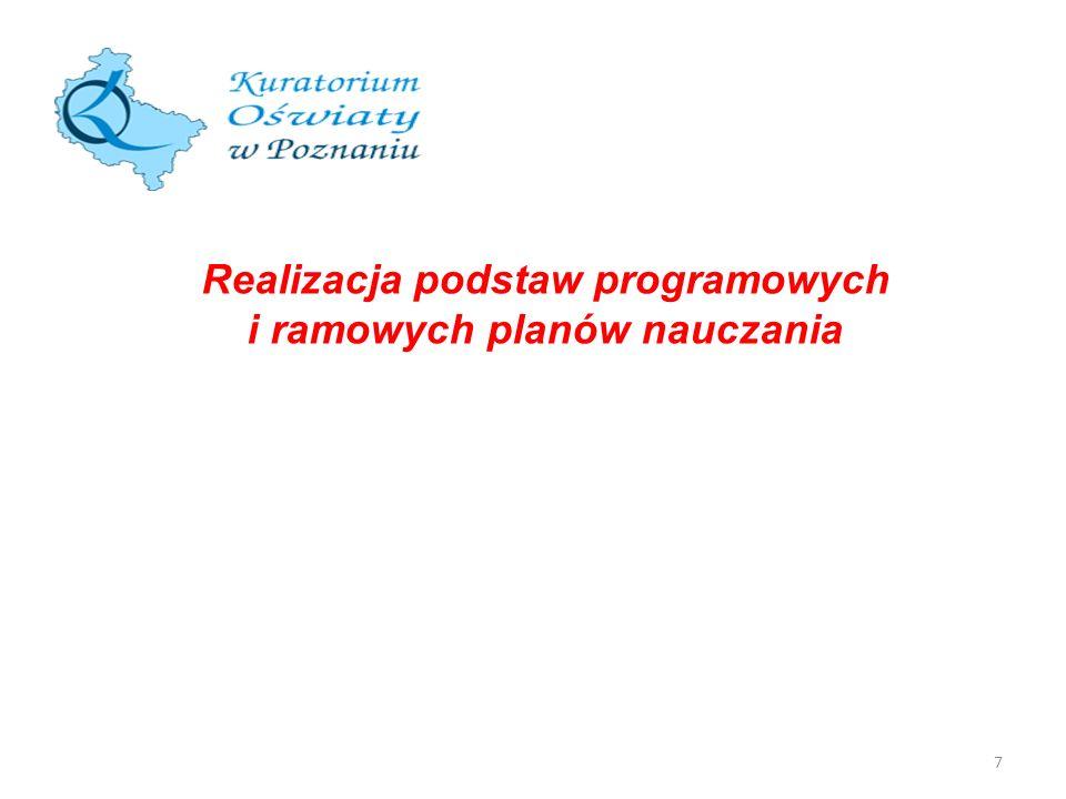 7 Realizacja podstaw programowych i ramowych planów nauczania