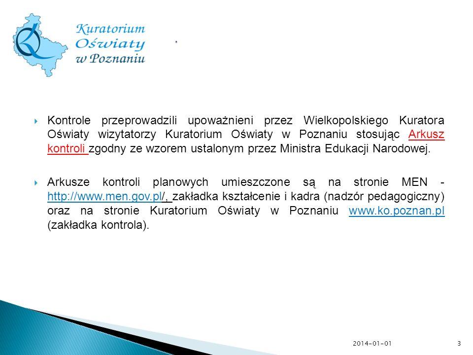 2014-01-01 Prawidłowość wykonywania przez dyrektorów publicznych szkół i placówek planowych zadań w zakresie nadzoru pedagogicznego 4