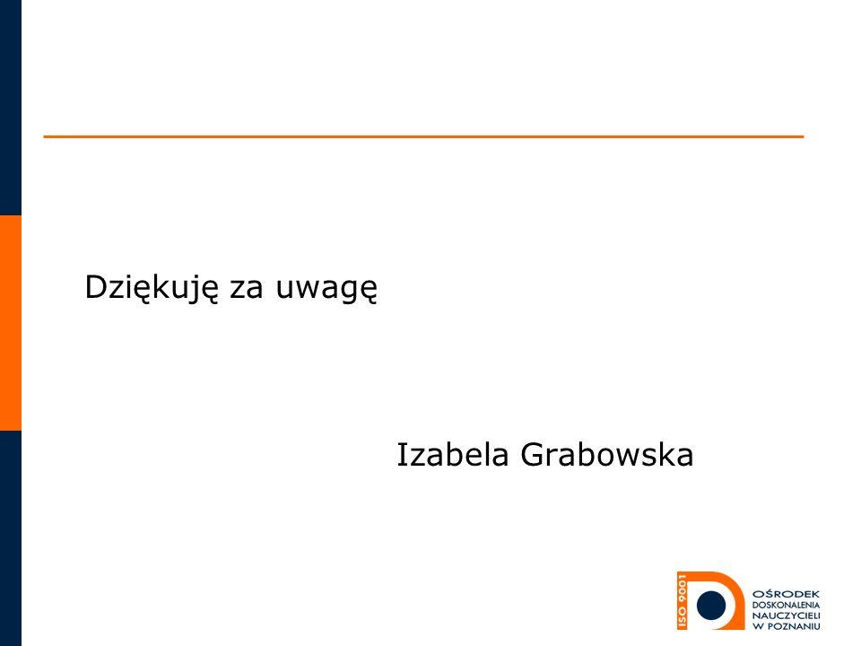 Dziękuję za uwagę Izabela Grabowska
