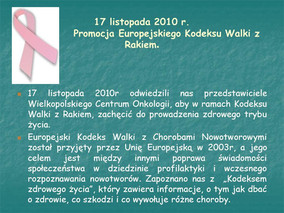 Maciej Trojanowski przeprowadził z Maciej Trojanowski przeprowadził z uczniami klas I – III pogadankę i warsztaty dotyczące profilaktyki chorób nowotworowych.
