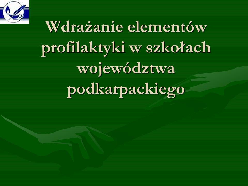 Wdrażanie elementów profilaktyki w szkołach województwa podkarpackiego