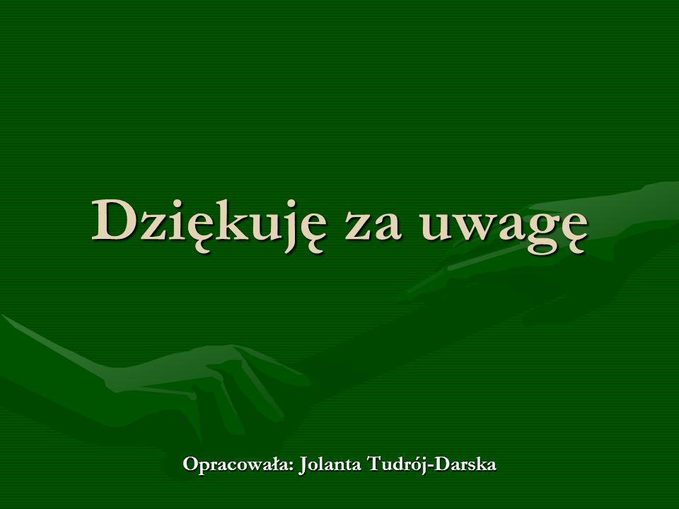 Dziękuję za uwagę Opracowała: Jolanta Tudrój-Darska