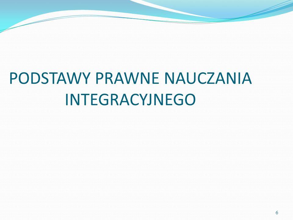 PODSTAWY PRAWNE NAUCZANIA INTEGRACYJNEGO 6