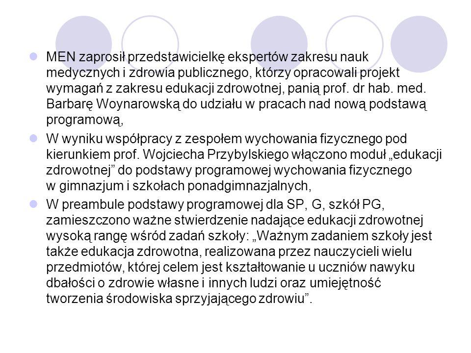 MEN zaprosił przedstawicielkę ekspertów zakresu nauk medycznych i zdrowia publicznego, którzy opracowali projekt wymagań z zakresu edukacji zdrowotnej