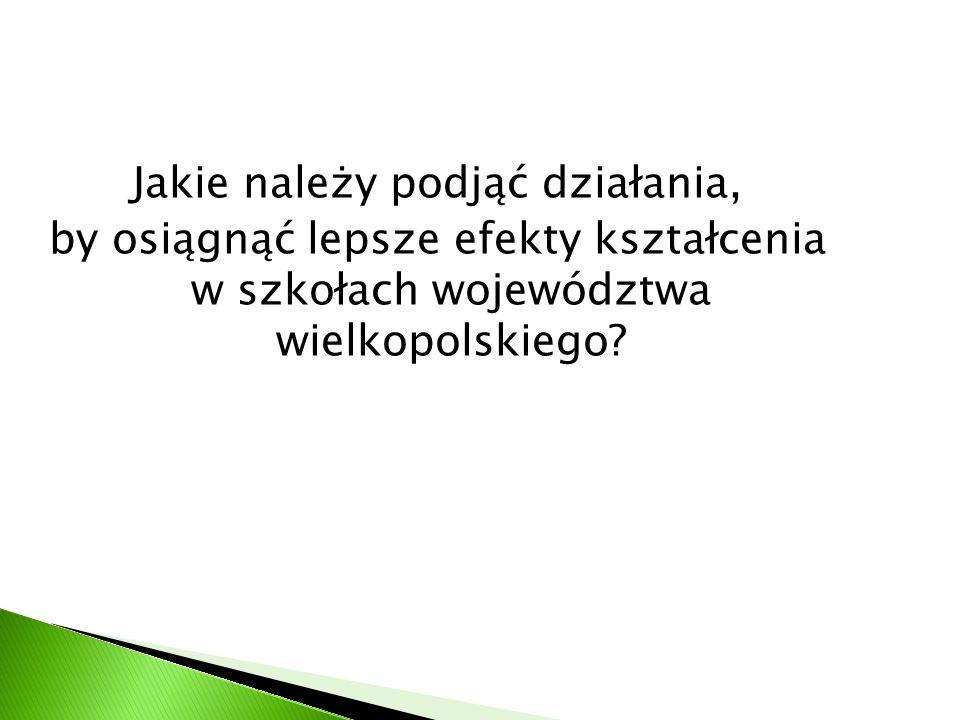 Jakie należy podjąć działania, by osiągnąć lepsze efekty kształcenia w szkołach województwa wielkopolskiego?