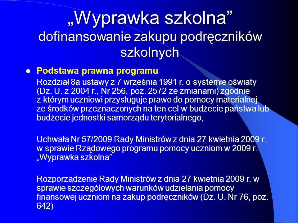 Podstawa prawna programu Rozdział 8a ustawy z 7 września 1991 r. o systemie oświaty (Dz. U. z 2004 r., Nr 256, poz. 2572 ze zmianami) zgodnie z którym