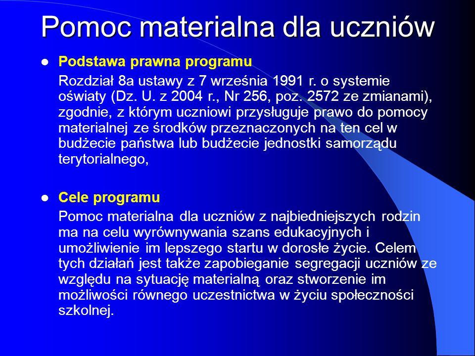 Podstawa prawna programu Rozdział 8a ustawy z 7 września 1991 r. o systemie oświaty (Dz. U. z 2004 r., Nr 256, poz. 2572 ze zmianami), zgodnie, z któr