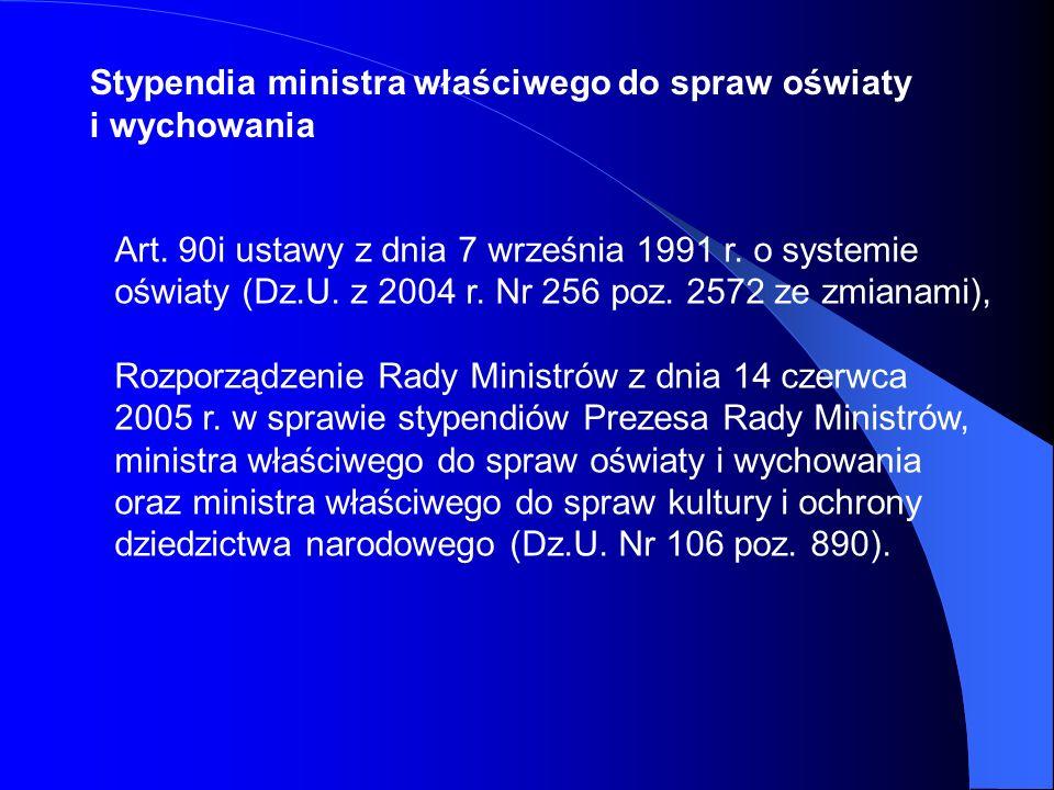 Art. 90i ustawy z dnia 7 września 1991 r. o systemie oświaty (Dz.U. z 2004 r. Nr 256 poz. 2572 ze zmianami), Rozporządzenie Rady Ministrów z dnia 14 c