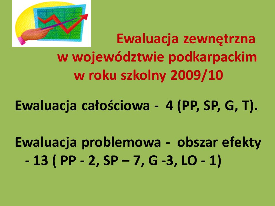 Ewaluacja całościowa – obszary 2.Procesy zachodzące w szkole lub placówce.