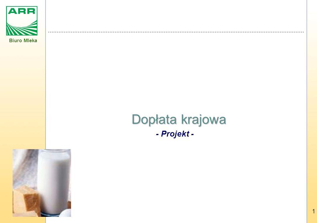 Biuro Mleka 1 Dopłata krajowa - Projekt -