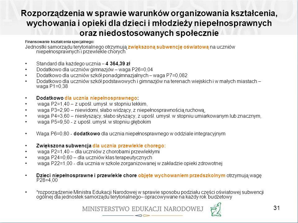 32 Kształcenie specjalne może być prowadzone dla uczniów, którzy rozpoczną naukę od dnia 1.09.2012 r.: do końca roku szkolnego, w roku kalendarzowym, w którym uczeń kończy : 1) 18.