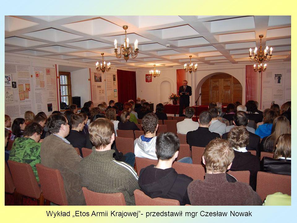 Wykład Etos Armii Krajowej- przedstawił mgr Czesław Nowak