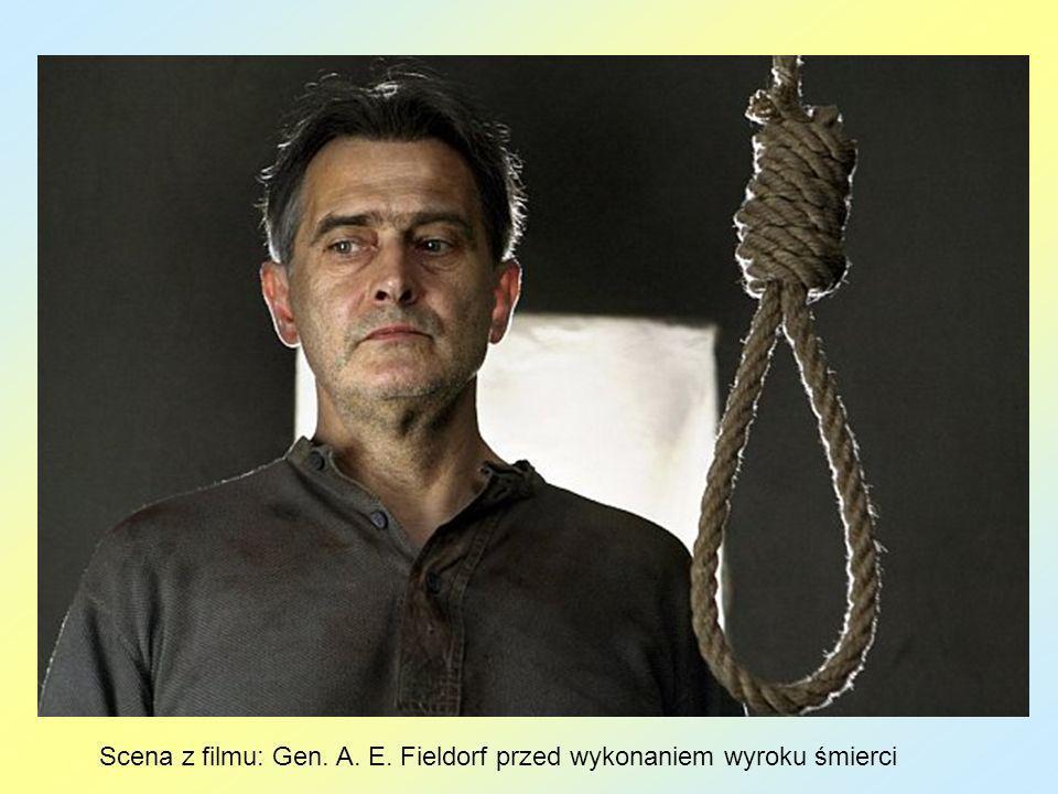Scena z filmu: Gen. A. E. Fieldorf przed wykonaniem wyroku śmierci