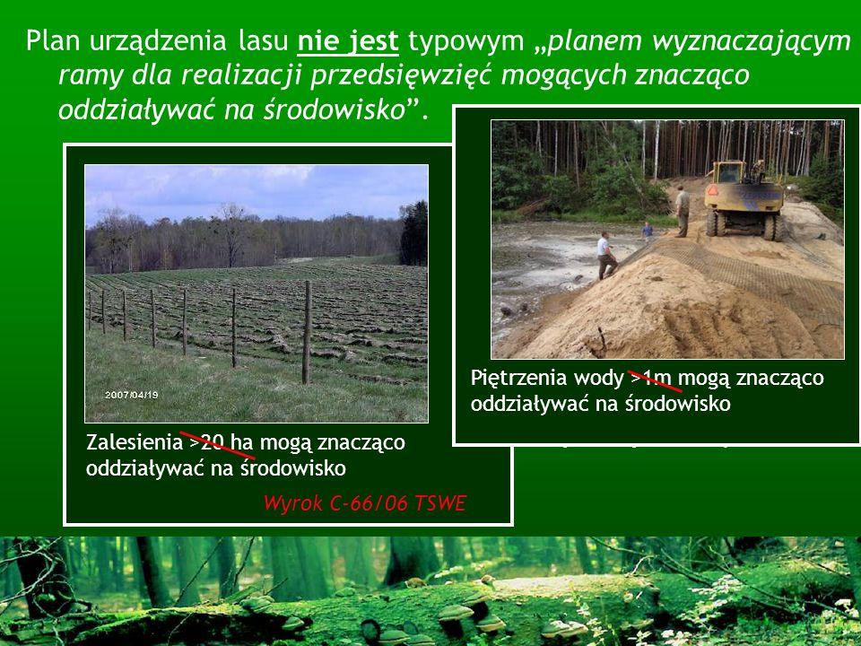 Plan urządzenia lasu nie jest typowym planem wyznaczającym ramy dla realizacji przedsięwzięć mogących znacząco oddziaływać na środowisko. Ale … - Zawi