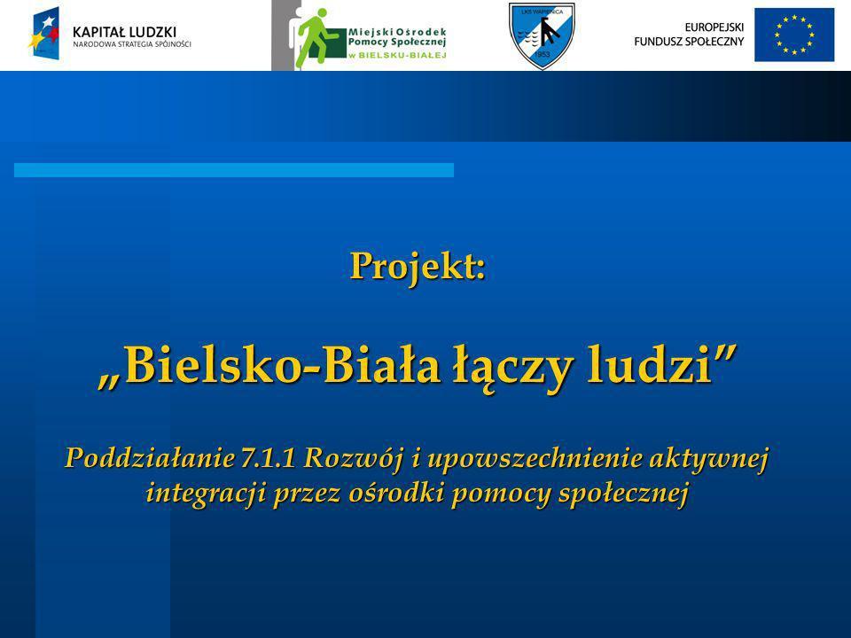 Projekt: Bielsko-Biała łączy ludzi Poddziałanie 7.1.1 Rozwój i upowszechnienie aktywnej integracji przez ośrodki pomocy społecznej