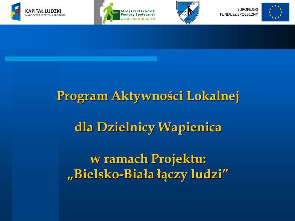Program Aktywności Lokalnej dla Dzielnicy Wapienica w ramach Projektu: Bielsko-Biała łączy ludzi