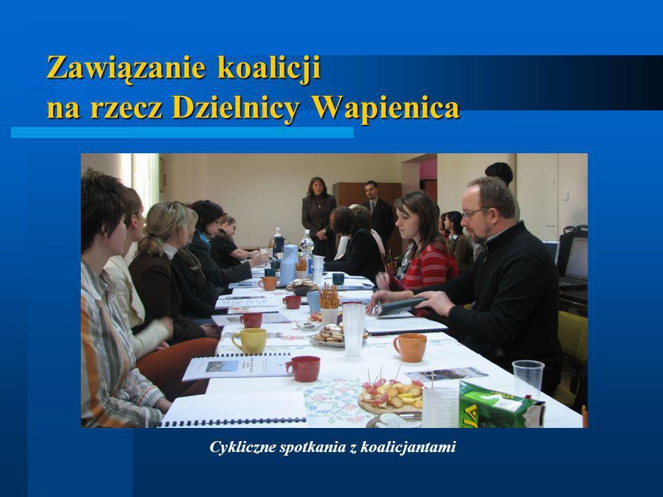 Zawiązanie koalicji na rzecz Dzielnicy Wapienica Cykliczne spotkania z koalicjantami