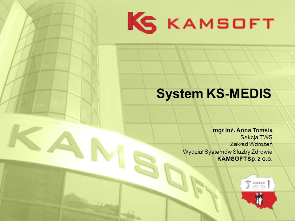 System KS-MEDIS2 Plan szkolenia 1.Wstęp 2.Instalacja systemu KS-MEDIS na serwerze oraz na stacjach roboczych, 3.Konfiguracja systemu, 4.Ruch chorych - rozliczenie z Narodowym Funduszem Zdrowia, 5.Dokumentacja medyczna i statystyczna.