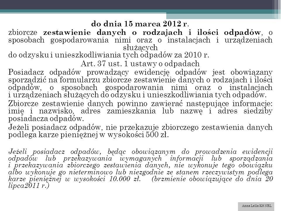 do dnia 15 marca 2012 r.