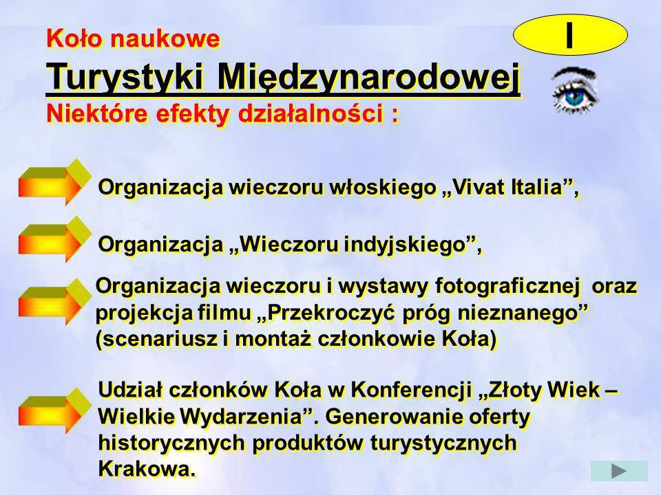 Udział członków Koła w Konferencji Złoty Wiek – Wielkie Wydarzenia. Generowanie oferty historycznych produktów turystycznych Krakowa. Koło naukowe Tur