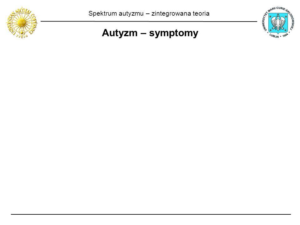 Spektrum autyzmu – zintegrowana teoria Autyzm – symptomy