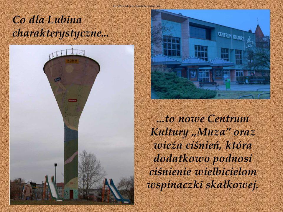 Co dla Lubina charakterystyczne......to nowe Centrum Kultury Muza oraz wieża ciśnień, która dodatkowo podnosi ciśnienie wielbicielom wspinaczki skałkowej.