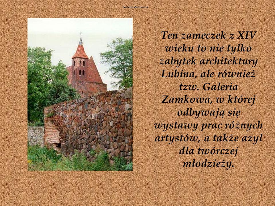Ten zameczek z XIV wieku to nie tylko zabytek architektury Lubina, ale również tzw.