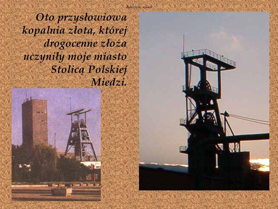 Oto przysłowiowa kopalnia złota, której drogocenne złoża uczyniły moje miasto Stolicą Polskiej Miedzi.
