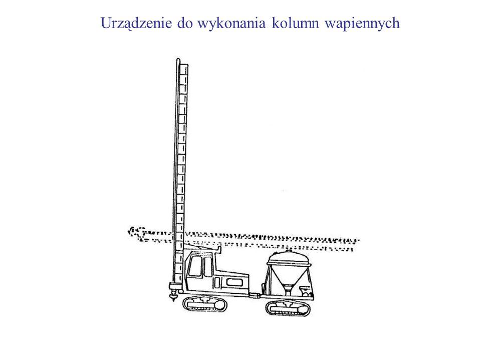 Urządzenie do wykonania kolumn wapiennych