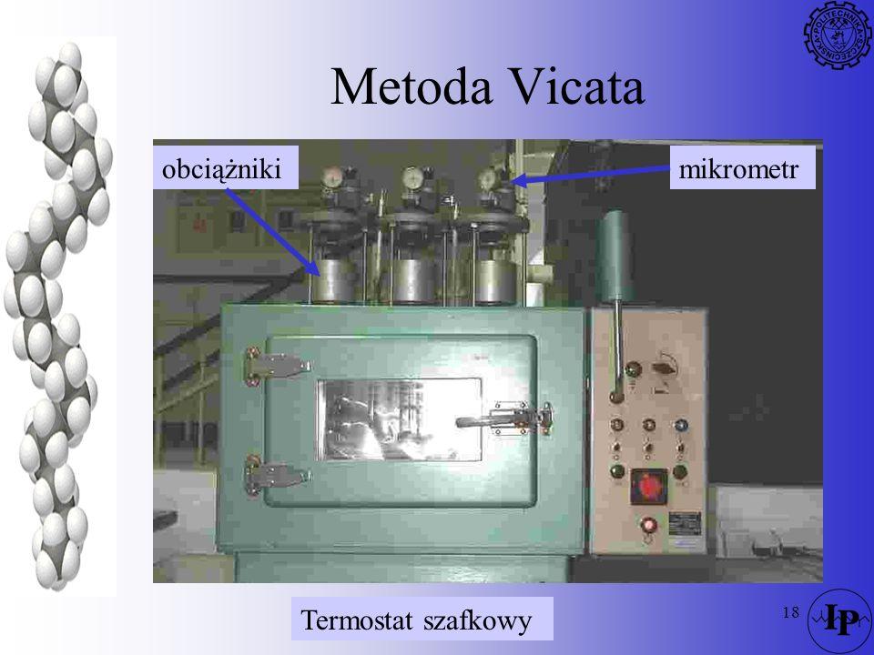 18 Metoda Vicata obciążnikimikrometr Termostat szafkowy