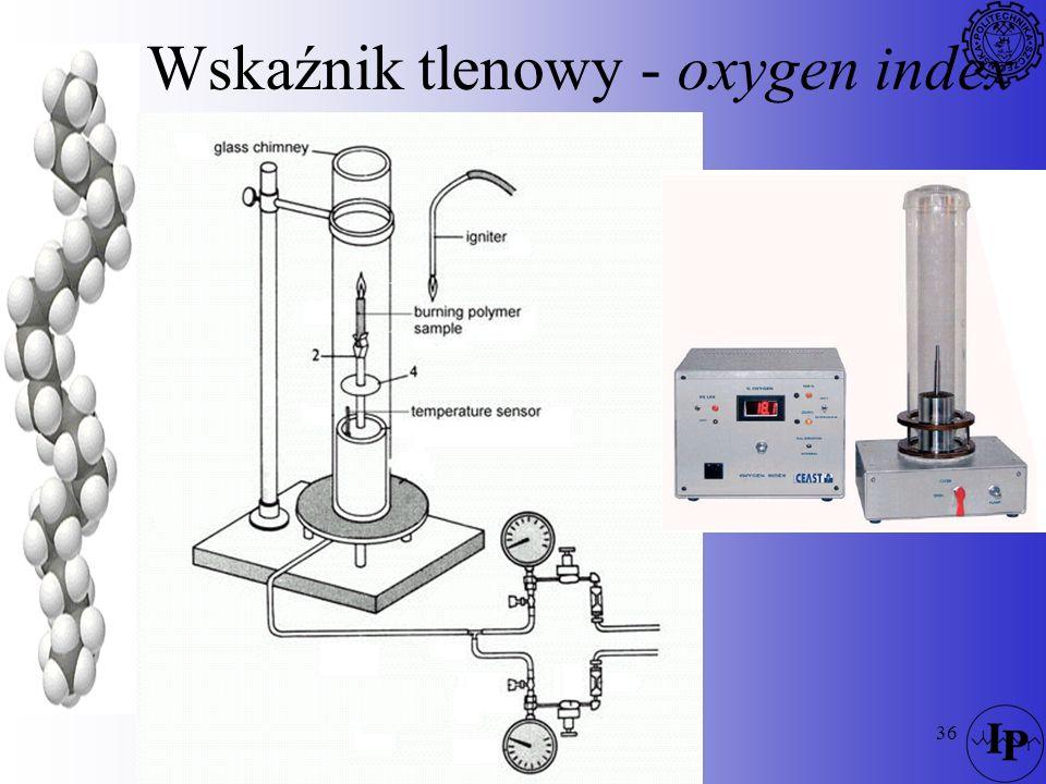 36 Wskaźnik tlenowy - oxygen index