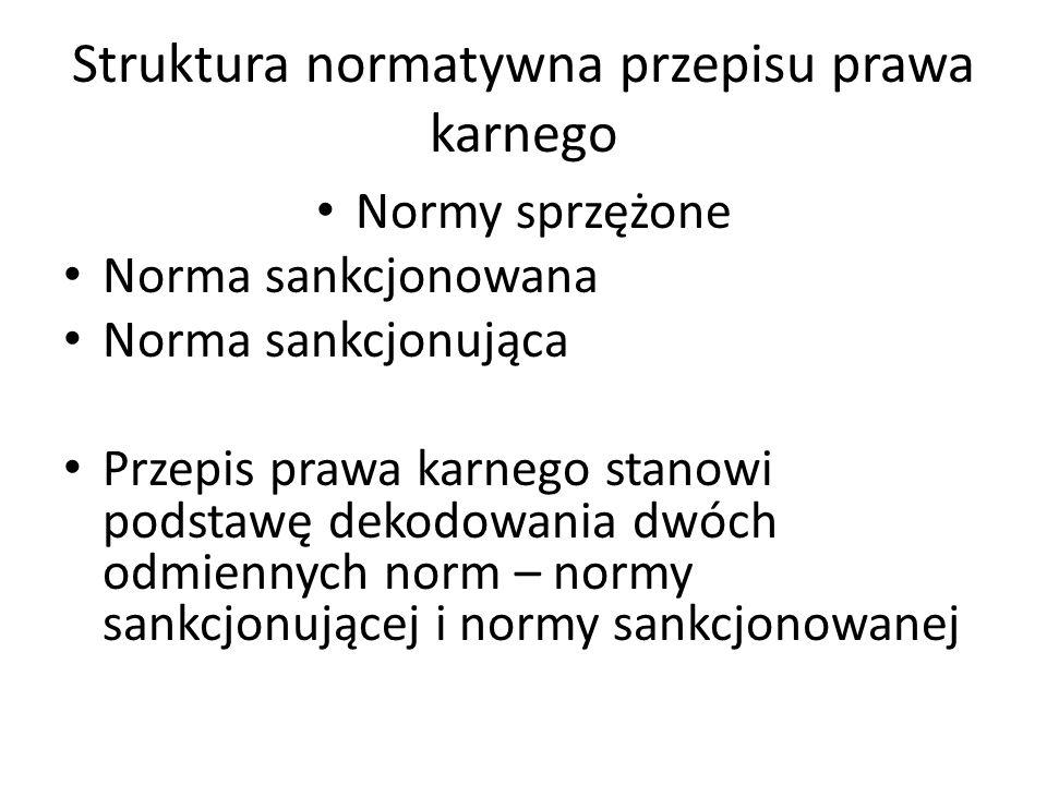 Norma sankcjonowana Zakaz lub nakaz określonego zachowania (norma merytoryczna) Elementy normy sankcjonowanej: – zakres normowania – zakres zastosowania
