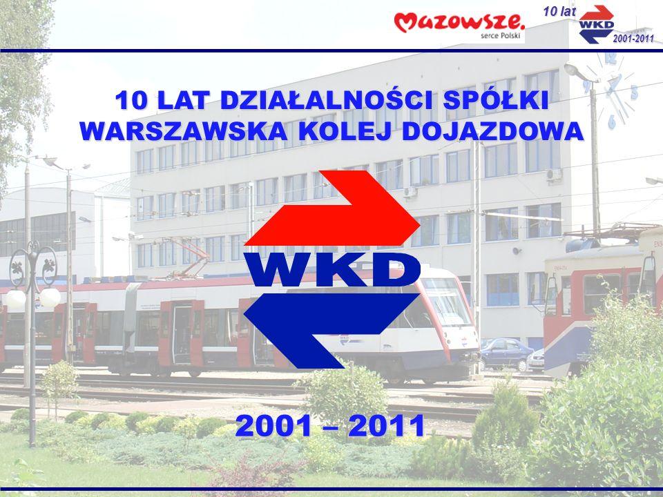 10 lat 2001-2011 22 XII 2000 Podpisanie aktu notarialnego powołującego spółkę PKP Warszawska Kolej Dojazdowa Sp.